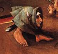 Gryllus detail from the bottom of the central panel of Bosch's Last Judgment in Vienna.