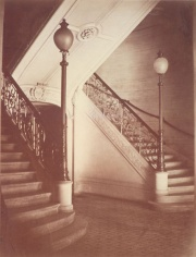 Staircase of the Théâtre du Vaudeville, Paris, photograph by Charles Marville (1816 – 1879)