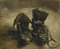 A pair of shoes by Vincent van Gogh, Paris, 1886