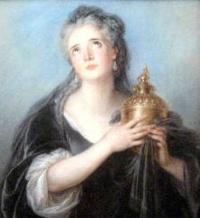 Adrienne Lecouvreur as Cornelia  by Charles-Antoine Coypel