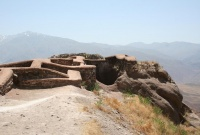 Vestiges of the Alamut Castle (photo Payampak)
