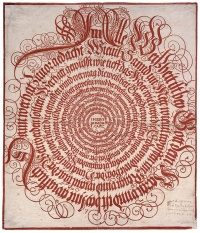 Alle Weissheit ist bey Gott dem Herrn..., informal title of a calligraphy of the Sirach by an anonymous artist