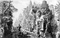 The Appian Way as it appeared in Piranesi's imagination (1756), from Le Antichità Romane.