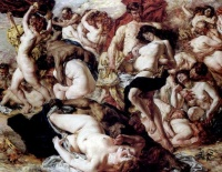 Bacchanalia by Auguste (Maurice Franois Giuslain) Lveque  The Bacchanalia were traditionally held on March 16 and March 17