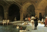 Grand bath at Bursa (1885) by Jean-Lon Grme