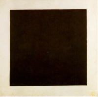 Black Square (1915) by Kazimir Malevich  monochrome painting