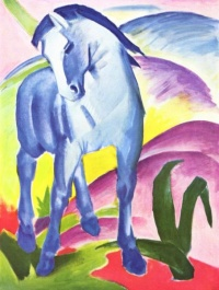 The Blue Horse I (1911) by Franz Marc, see modern art