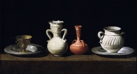 Bodegón (Still Life with Pottery Jars) (c. 1650) by Francisco de Zurbarán