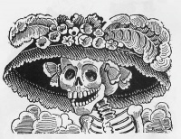 La Calavera Catrina (before 1913) by José Guadalupe Posada, see deaths in 2013