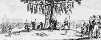 The Miseries and Disasters of War (1633) by Jacques Callot  With the 16th century The Miseries and Disasters of War, French 17th artist Jacques Callot anticipated Goya's Disasters of War, both of them criticizing the horrors of war in their art