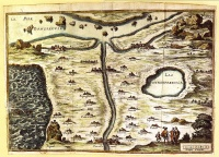 "The Map of Tendre (Carte du Tendre) is a French map of an imaginary country called Tendre produced by several hands (including Catherine de Rambouillet). It appeared as an engraving (attributed to François Chauveau) in the first part of Madeleine de Scudéry's 1654-61 novel Clélie. It shows a geography entirely based around the theme of love according to the Précieuses of that era: the river of Inclination flows past the villages of ""Billet Doux"" (Love Letter), ""Petits Soins"" (Little Trinkets) and so forth."