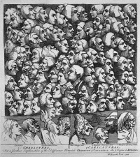 Characters Caricaturas (1743) by William Hogarth
