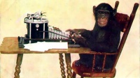 Chimpanzee Typing (1907) - New York Zoological Society