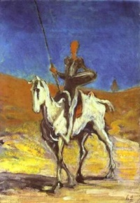Don Quixote and Sancho Panza (ca. 1865-70) - Honoré Daumier