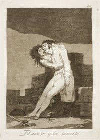 El amor y la muerte (English: Love and Death) is plate 10 from the Caprichos by Francisco Goya.