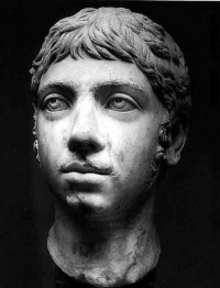 Elagabalus (ca. 203 – March 11, 222), also known as Heliogabalus or Marcus Aurelius Antoninus, was a Roman emperor. He was known for perverse and decadent behavior with regard especially to sex, religion, and food. Due to these associations with Roman decadence, Elagabalus became something of a hero to the Decadent movement in the late 19th century.
