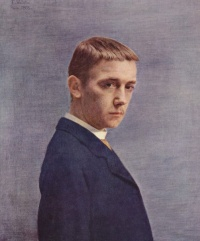 Self portrait, 1885, oil on canvas, by Félix Vallotton