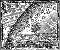 "Flammarion engraving, a wood engraving by an unknown artist, so named because its first documented appearance is in Camille Flammarion's 1888 book L'atmosphère: météorologie populaire (""The Atmosphere: Popular Meteorology"")."