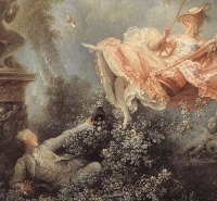 The Swing (detail) (ca. 1767) by Fragonard