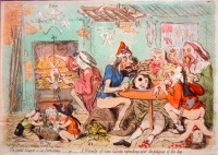 Petit Souper a la Parisienne (1792) by James Gillray