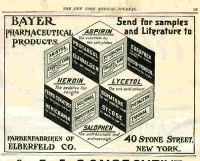 Heroin was commercially developed by Bayer Pharmaceutical and was marketed by Bayer and other companies (c. 1900) for several medicinal uses including cough suppression.