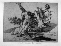 Disasters of War (1810s) by Francisco de Goya  With the early 19th century Disasters of War, Goya continued a tradition set in motion by French 17th artist Jacques Callot with his The Miseries and Disasters of War, both of them criticizing the horrors of war in their art