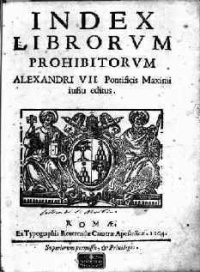 "This page Book censorship is part of the mores series. Illustration: Index Librorum Prohibitorum (""List of Prohibited Books"") of the Catholic Church."