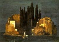 "Isle of the Dead by Arnold Böcklin: ""Basel"" version, 1880"