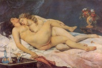 Le Sommeil (1866) by Gustave Courbet