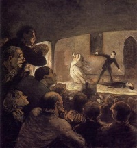 At the Theater (The Melodrama) (c. 1860-64) - Honoré Daumier