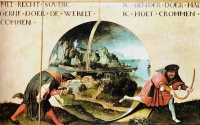 Allegory of the World (1515) from the studio of  Joachim Patinir