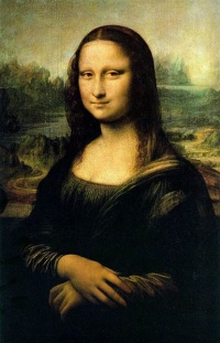 Mona Lisa, or La Gioconda. (La Joconde), is a 16th century oil painting by Leonardo da Vinci, and is one of the most famous paintings in the world. It has acquired an iconic status in popular culture. Today the Mona Lisa is frequently reproduced, finding its way on to everything from carpets to mouse pads.