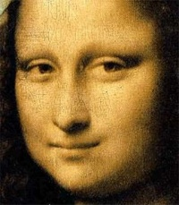 Mona Lisa, or La Gioconda. (La Joconde), is a 16th century oil painting by Leonardo da Vinci, and is one of the most famous paintings in the world. It has acquired an iconic status in popular culture. In 1963, pop artist Andy Warhol started making colorful serigraph prints of the Mona Lisa. Warhol thus consecrated her as a modern icon, similar to Marilyn Monroe or Elvis Presley. At the same time, his use of a stencil process and crude colors implies a criticism of the debasement of aesthetic values in a society of mass production and mass consumption. Today the Mona Lisa is frequently reproduced, finding its way on to everything from carpets to mouse pads.