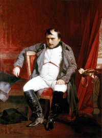 Napoléon Bonaparte abdicated in Fontainebleau  (1845) by Paul Delaroche