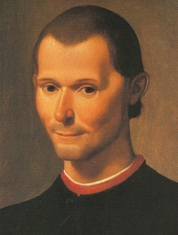 Niccolò Machiavelli (Detail of 1500 portrait of Niccolò Machiavelli, May 3, 1469 – June 21, 1527) by Santi di Tito)