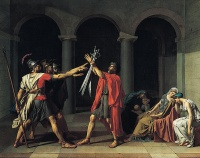 Oath of the Horatii (1784) by Jacques-Louis David