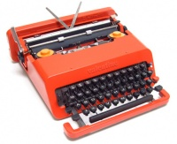 Ettore Sottsass Olivetti Valentine, first released on Valentine's Day 1969.