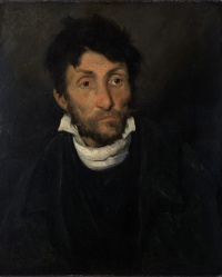 Portrait of a Kleptomaniac (1822) by  Théodore Géricault