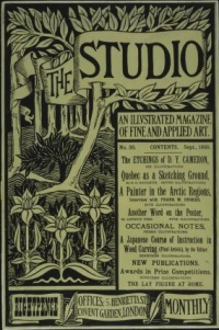This is a poster for The Studio, illustrated with a line-block forest image by Aubrey Beardsley.