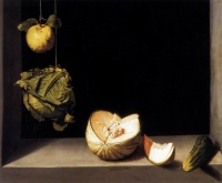 Quince, Cabbage, Melon and Cucumber (1602) by Juan Sánchez Cotán