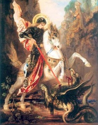 Saint George versus the dragon 1880 by Gustave Moreau