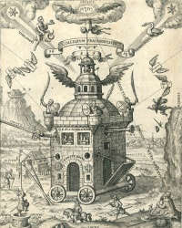 Illustration to the Speculum Sophicum Rhodostauroticum (1618) by Teophilus Schweighardt Constantiens
