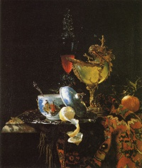 Still Life with Nautilus Cup (1662) by Willem Kalf
