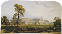 "The usage of new materials such as iron, steel, concrete and glass is ascribed an important place, with the Crystal Palace by Joseph Paxton to house the Great Exhibition of 1851. Historians have seen the Crystal Palace as a reaction to the eclecticism and ""poor taste"" of the Victorian Era fuelled by the possibilities of the Industrial Revolution."