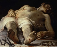 The Dead Christ (1582) by Annibale Carracci