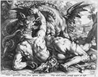 The Dragon Slaying the Companions of Cadmus 1588 by Goltzius