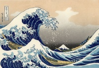 The Great Wave off Kanagawa (between 1823-29, woodblock printing by Hokusai