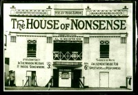 This page Wit is part of the humor series.Illustration: House of Nonsense (1911), one of Blackpool's funhouse attractions