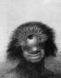 The Shapeless Polyp Floated along the Bank, a Sort of Hideous, Smiling Cyclops (1883) - Odilon Redon