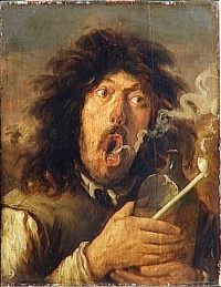 Genre painting as the nobrow expression of Old Masters. theo Illustration: The Smoker (ca. 1654 - 1662) by Joos van Craesbeeck